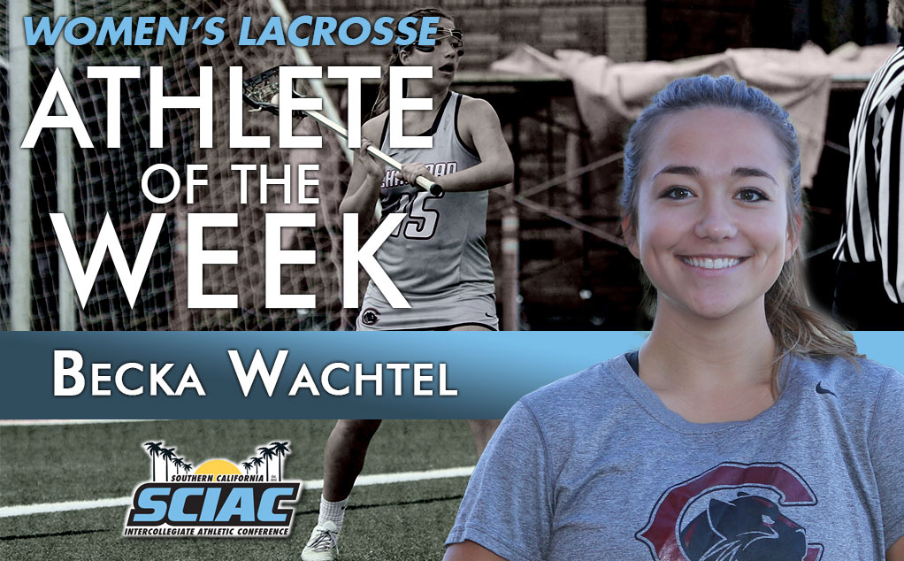 Wachtel becomes second Panther in a row to earn SCIAC weekly honors