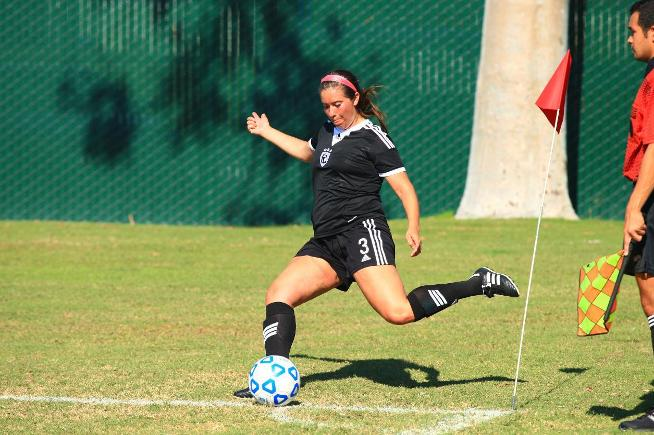File Photo: Celinna Montano scored on a shot from inside the corner flag in the Falcons 2-2 tie with Mt. San Antonio