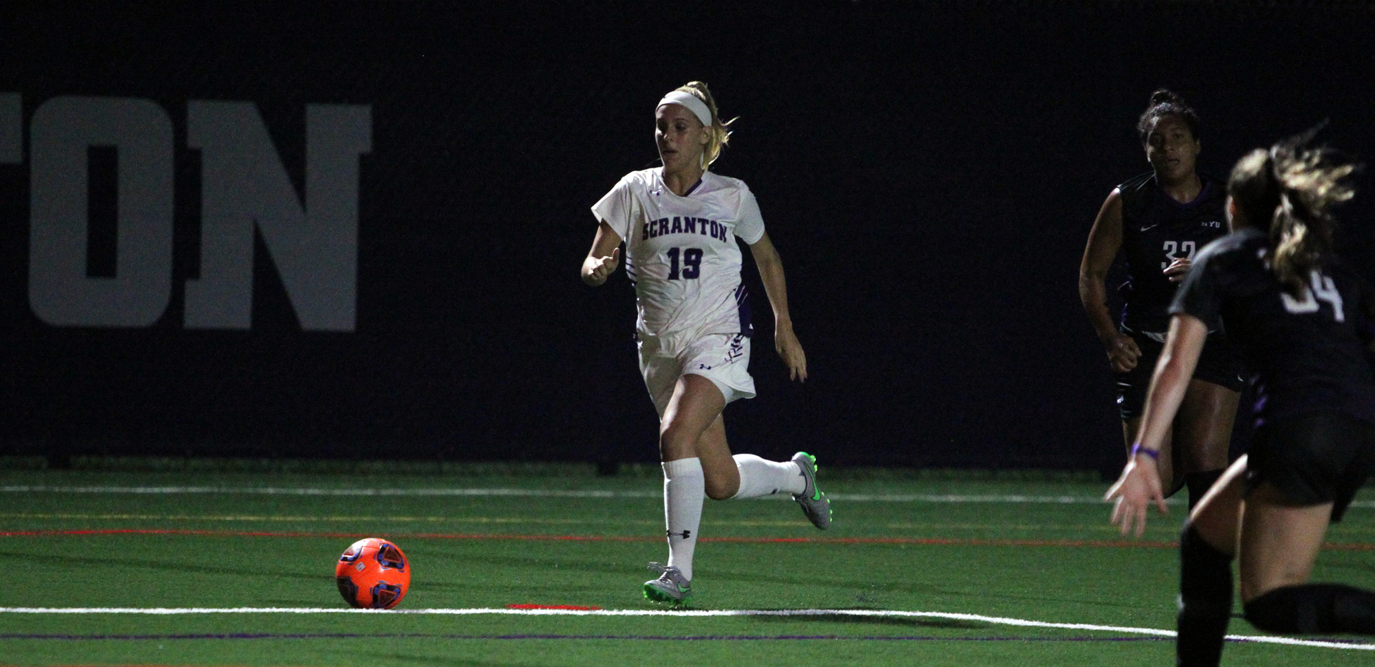 Senior forward Jamie Hreniuk scored her sixth and seventh goals of the season on Tuesday night.