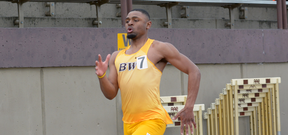 Senior All-American sprinter Jordan Leverette won the 100- and 200-meter dashes and broke both meet records in just his first meet of the season at Otterbein's April Fools Invitational
