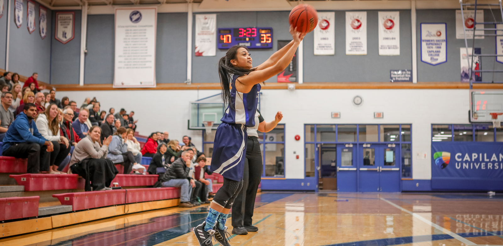 CapU first-year guard Kirsten Abo. Photo Paul Yates / Vancouver Sports Pictures