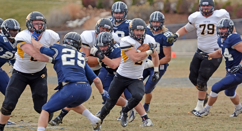 #8 Football Earns 34-23 Win in Playoff Opener at #17 Mines