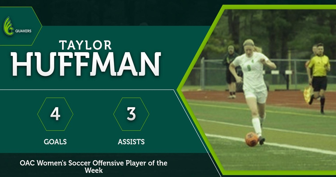 Huffman Earns OAC Women's Soccer Offensive Player of the Week Honor