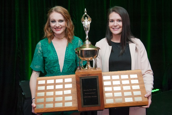 Alysha Corrigan captures Female Athlete of the Year award; while Carragher earns team's Rookie of the Year