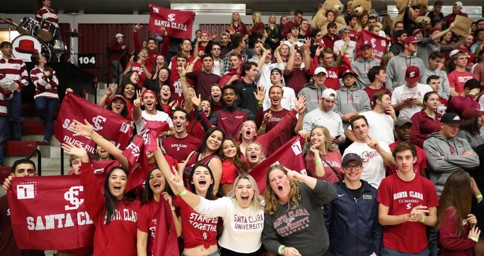Student section in Leavey Center.