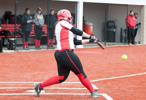 Softball Takes Game One of Doubleheader Before Rain Halts Play