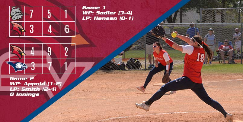Extra-Innings Win Over USI Gives Cardinals Split on Day Three