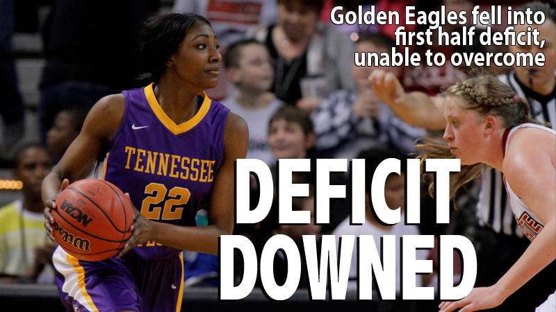First half deficit too large for Golden Eagles to overcome