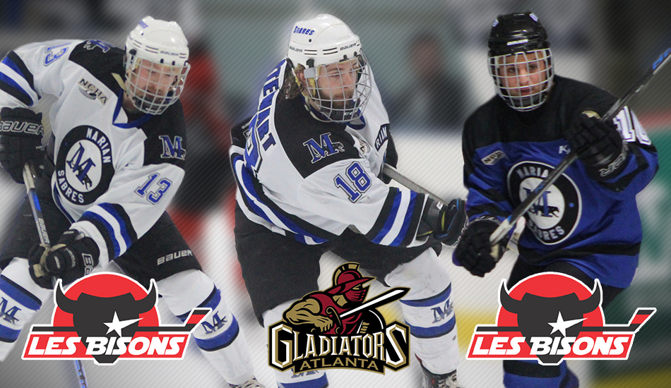 Marian men's hockey professional signings.