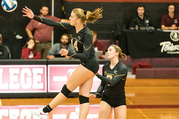 Volleyball Downs Lasell in Straight Sets
