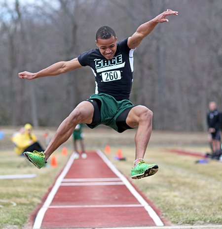 Sage men's track and field squad enjoys success at Wesleyan Classic