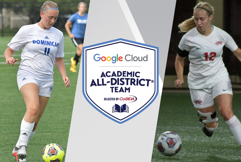 Dominican junior Josseline Williams and MSOE senior Shelby Namen were named to the 2018 CoSIDA/Google Cloud Academic All-District® Women's Soccer Teams, CoSIDA announced Thursday.