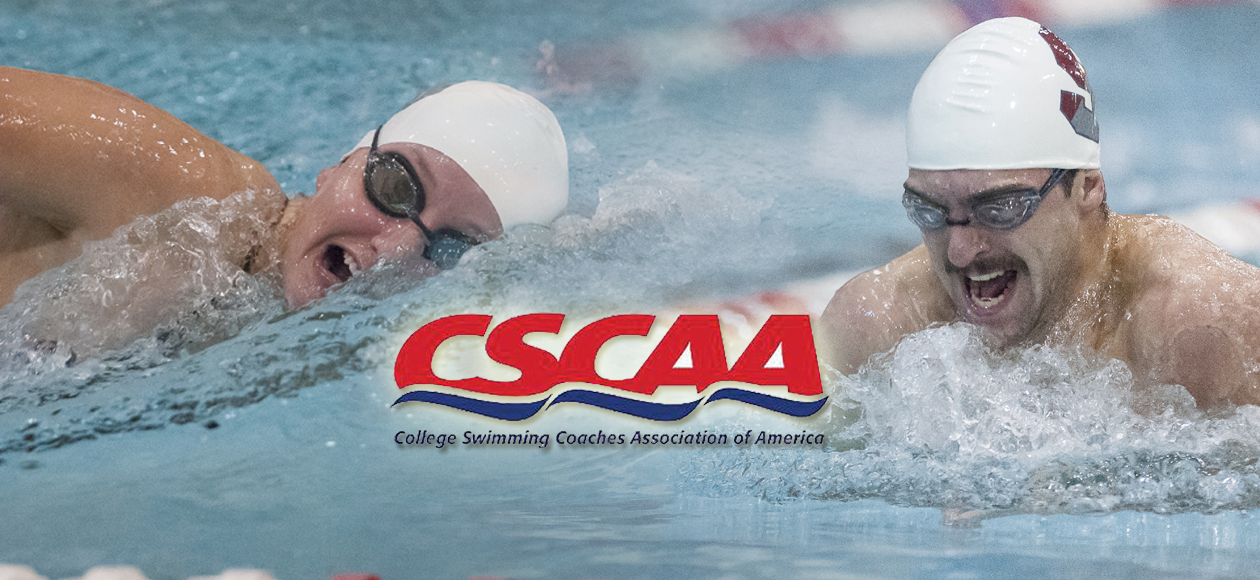 Men's and Women's Swimming and Diving Earn CSCAA Scholar All-America Team Recognition; Five Earn Individual Honors