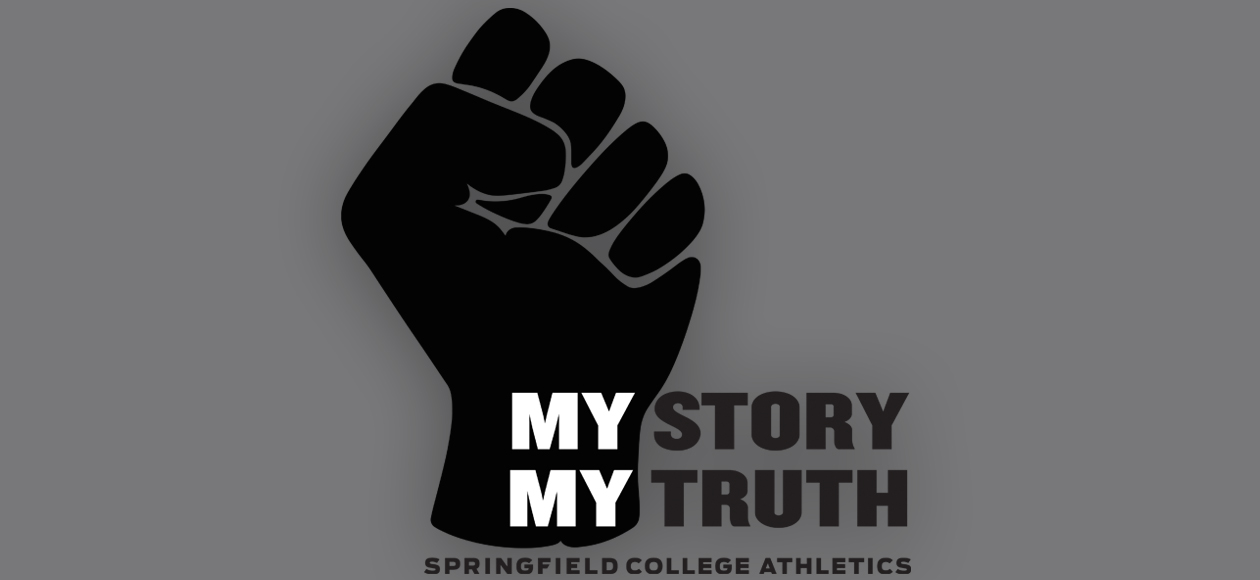 My Story, My Truth image with a closed fist.