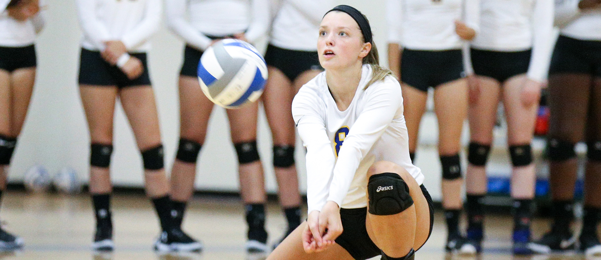 Junior Ashley Matthews recorded 15 kills in Western New England's 3-1 loss to Clark on Thursday. (Photo by Chris Marion)