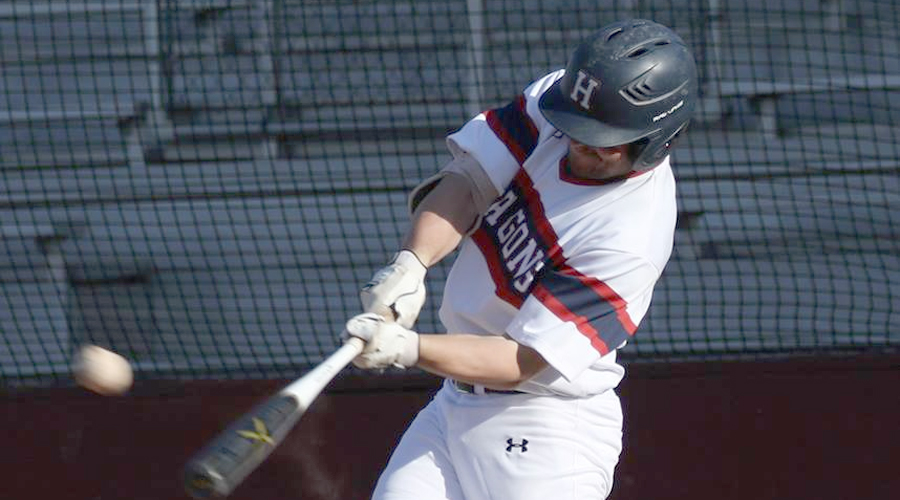 Riley Metzger hit a pair of home runs and drive in five runs in Hutchinson's 11-8 win over Coffeyville in Game 1 of a season-opening doubleheder on Saturday in Coffeyville.