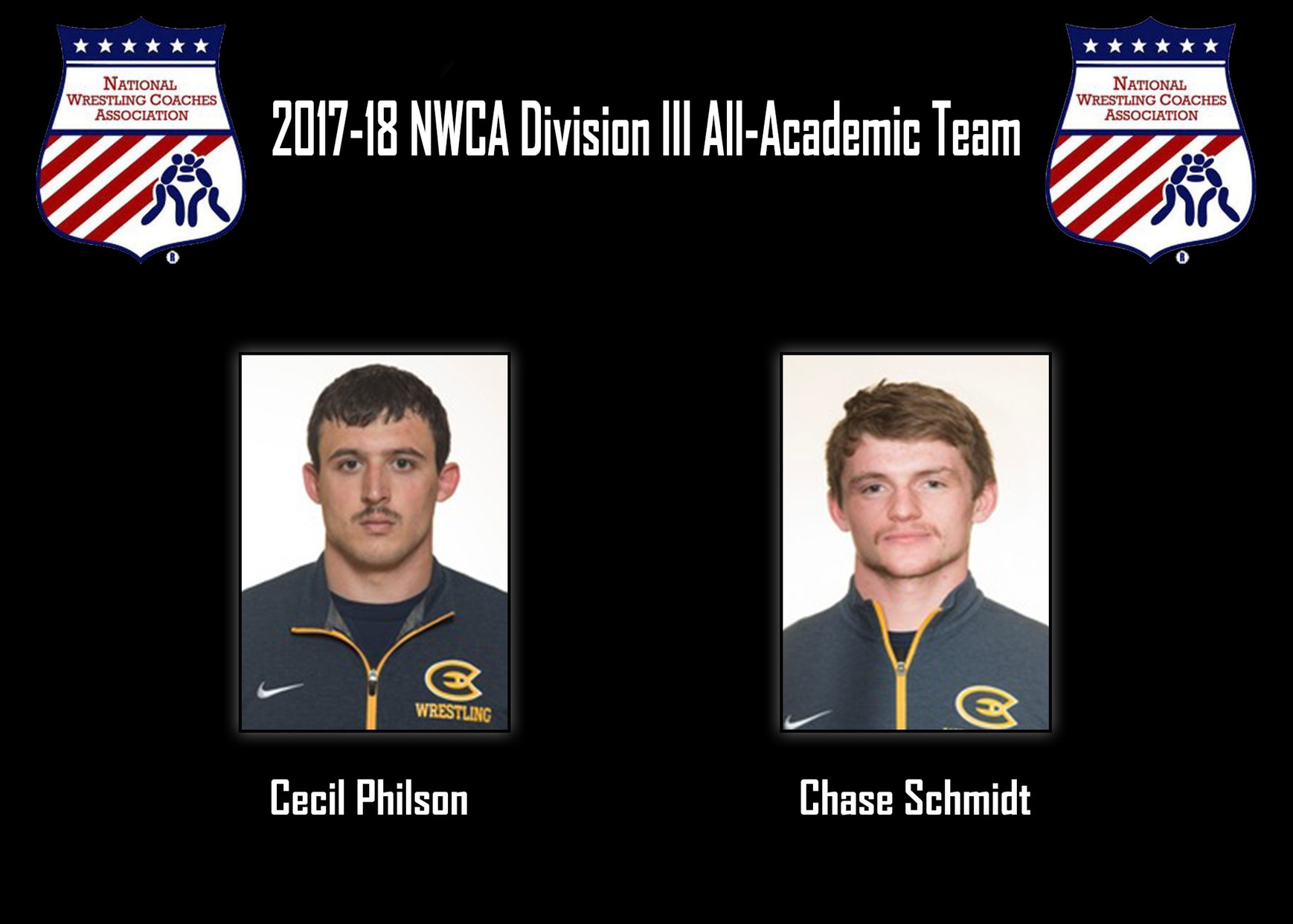 Philson and Schmidt added to NWCA Division III All-Academic Team