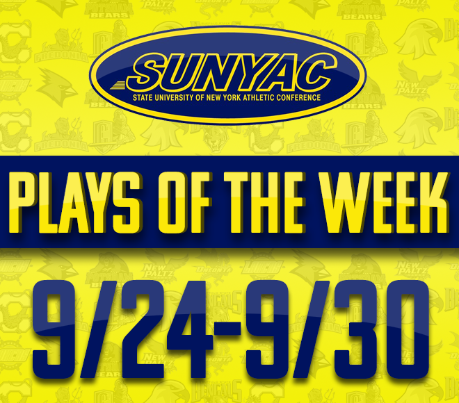 SUNYAC Fall Plays of the Week - Sept. 24-30
