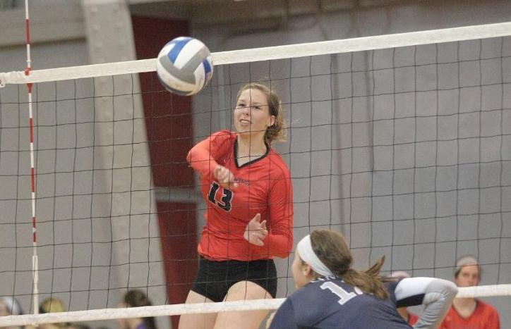 Celentano Ties Season-High in Kills in Tartans 3-2 Loss