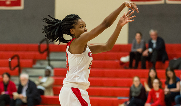 Ogechi Ezemma is just one of two student-athletes averaging a double-double (13.7 points, 10.1 rebounds) in the NEWMAC this season.