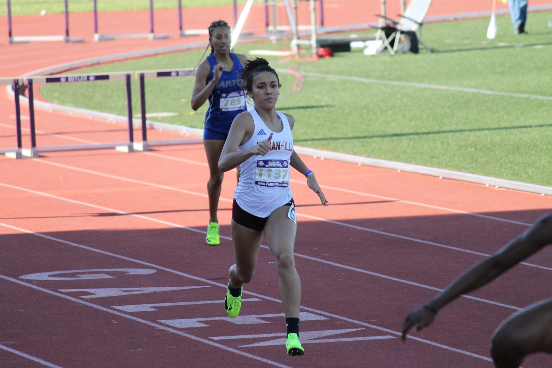 Tyarra English-Paulson finished as the women's track and field team's first ever All-American.