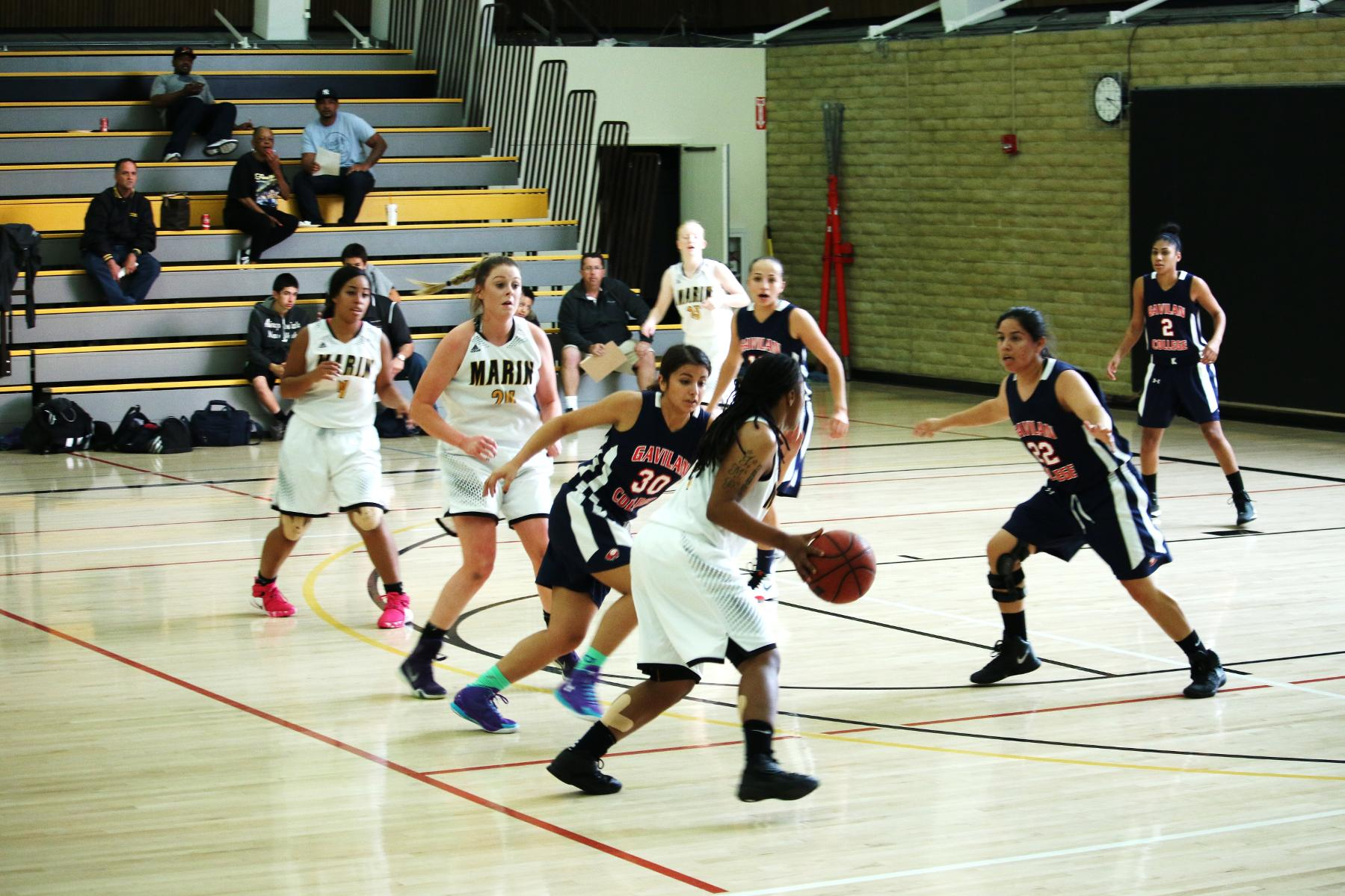 Women's Basketball Nabs First Conference Win Over Mendocino 66-36