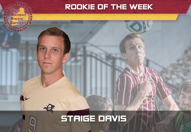 Staige Davis - men's soccer rookie of week