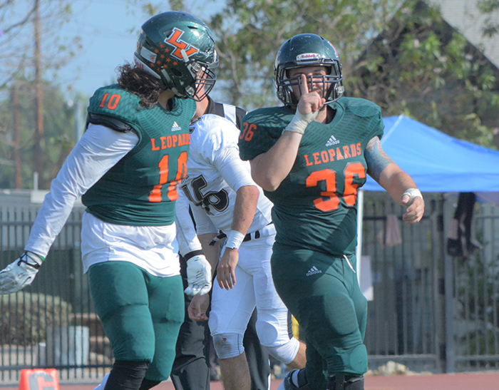 Football throttles Whittier, alone at top of SCIAC