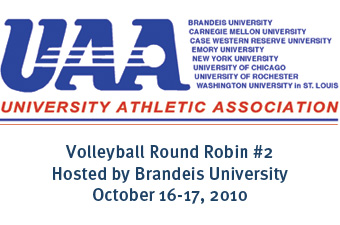 2010 UAA Volleyball Round Robin II Schedule