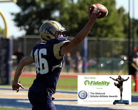 Gallaudet defensive back Nicholas Elstad selected as NFF candidate for the NFF National-Scholar Athlete Awards