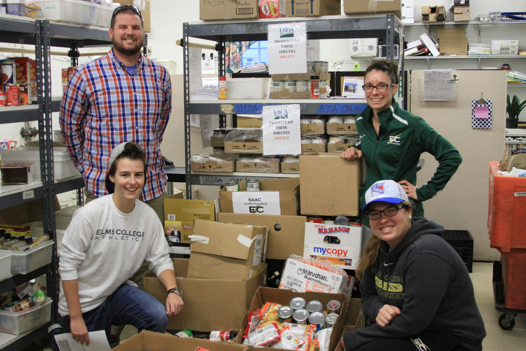 Blazers Band Together For Holiday Can Drive
