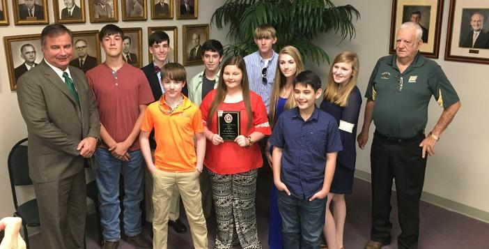 Rifle Team Recognized at Board Meeting