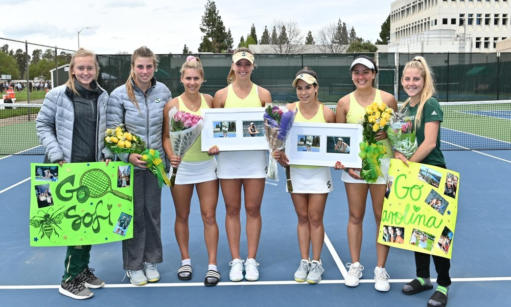 WOMEN'S TENNIS CELEBRATES SENIOR DAY WITH 5-2 WIN OVER MONTANA STATE