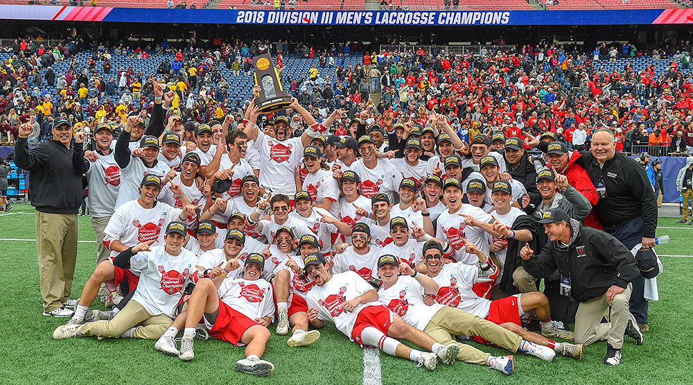 Wesleyan's national champion men's lacrosse team