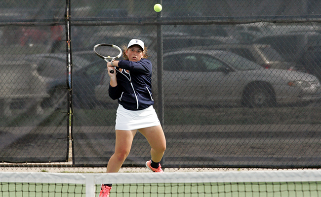 Women's Tennis Sweep Visiting Scots