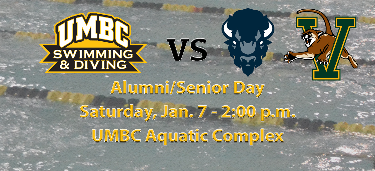 UMBC Swimming and Diving Closes Home Schedule Against Howard and Vermont on Senior/Alumni Day