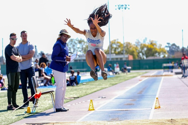 File Photo: Cerritos wins both long jump and triple jump at UNLV Invitational