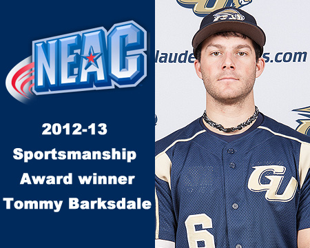 Gallaudet's Tommy Barksdale named 2012-13 NEAC Individual Sportsmanship Award winner