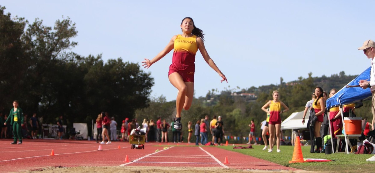 CMS women's track and field sent a partial contingent to the Westmont On Your Marks Meet, including seven long jumpers