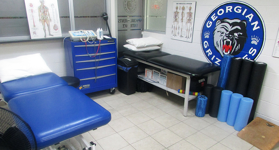 athletic therapy room