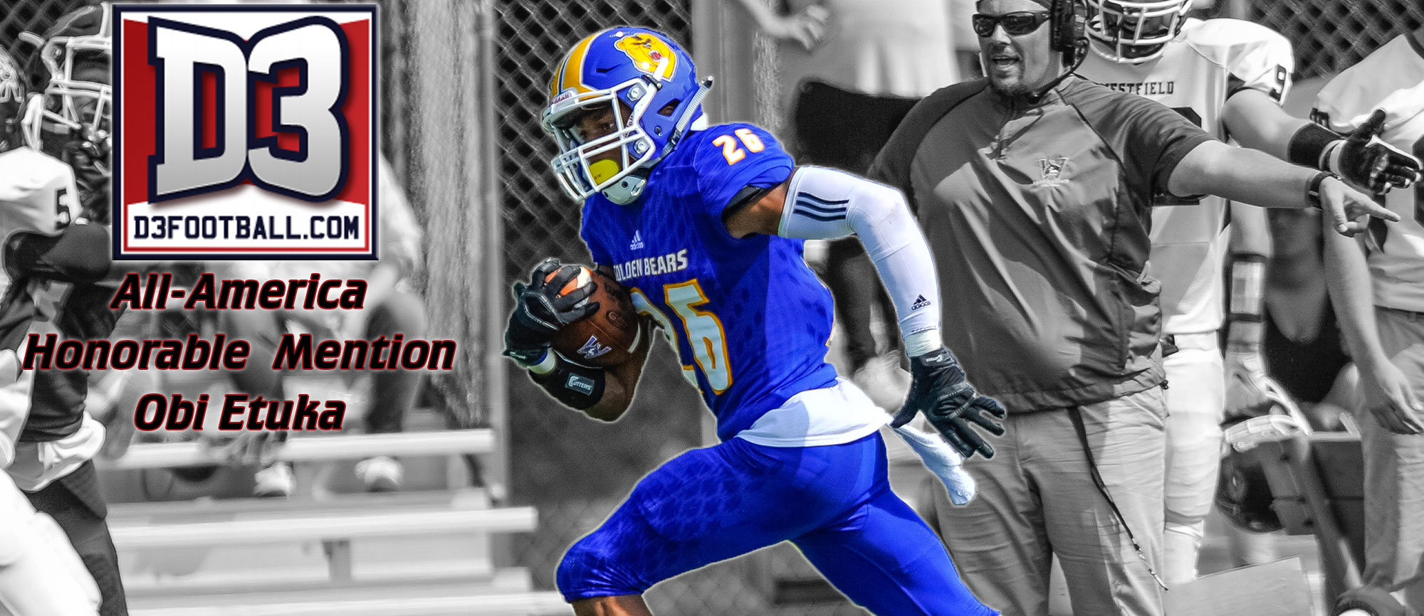 Obi Etuka Named Honorable Mention All-American by D3football.com