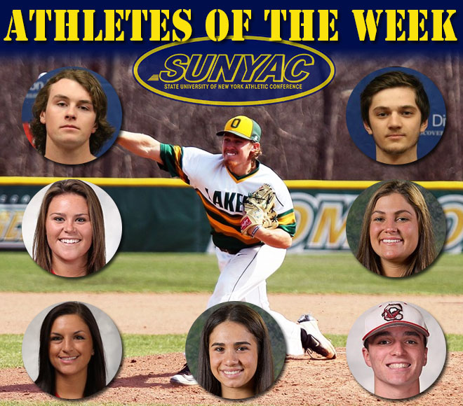 SUNYAC selects weekly honors for baseball, softball and lacrosse