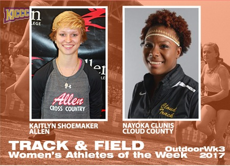 2017 KJCCC Outdoor T&F Athletes of the Week, Women, Week 3