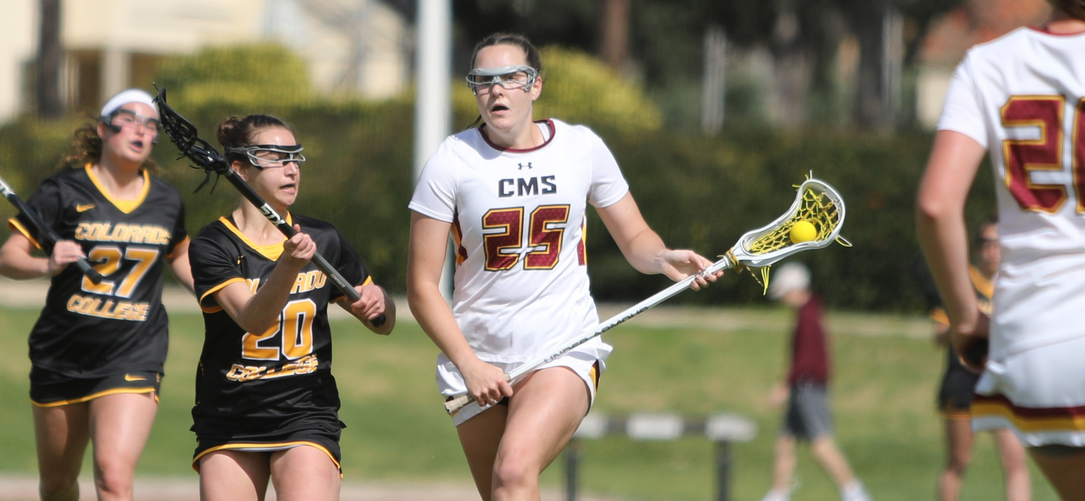 Sally Abel had four goals and an assist to key an 18-9 road win at Redlands