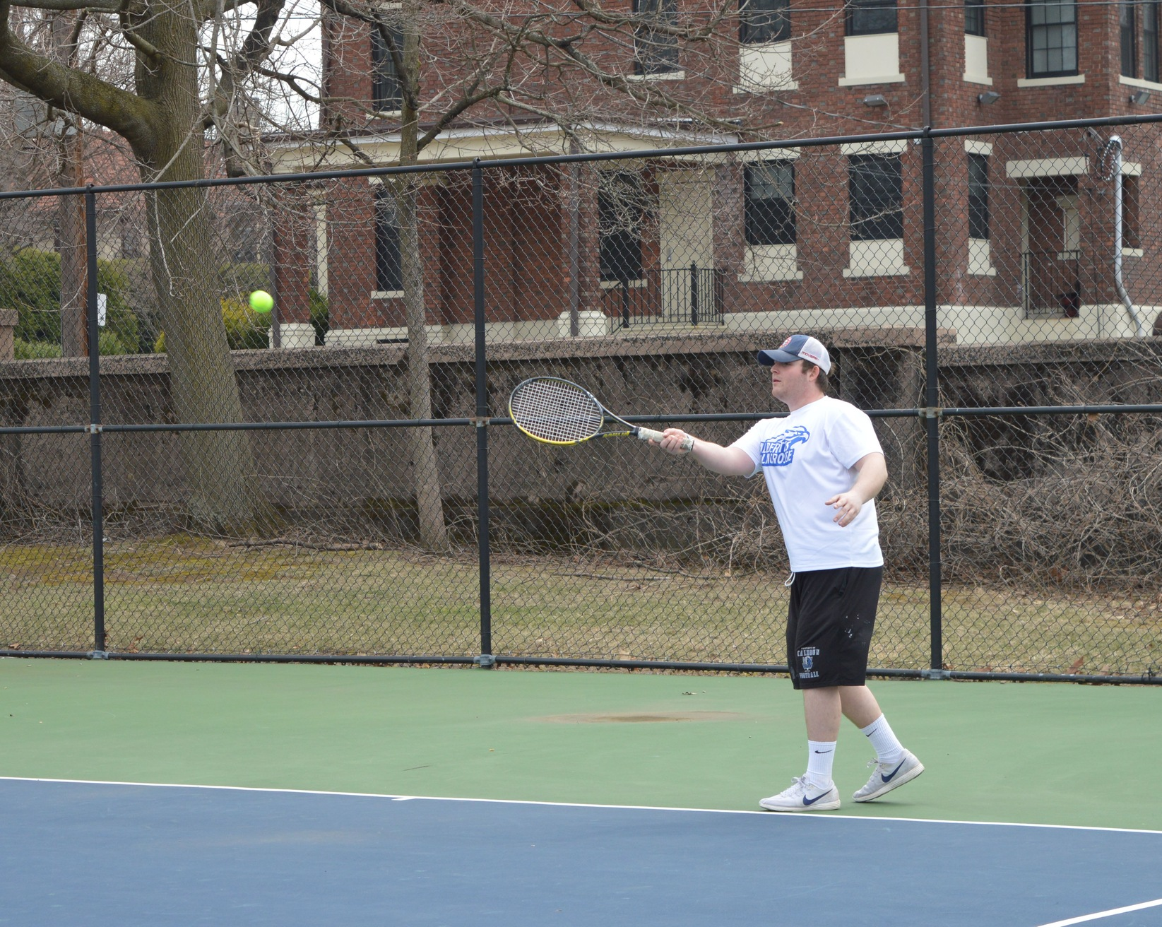 Men's Tennis Edged by Sarah Lawrence on Senior Day