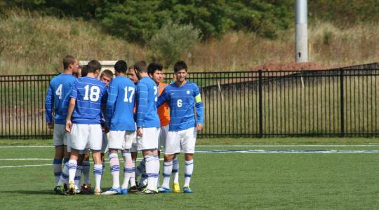 CUW and MSOE men's soccer play to 1-1 draw; 3 way tie for second in NAC