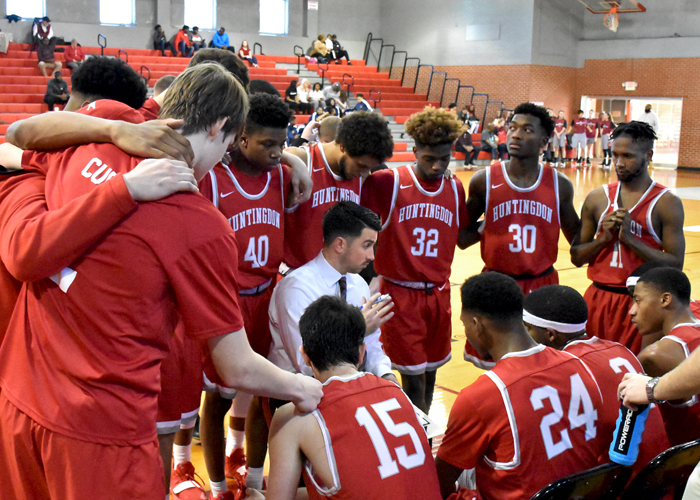 Huntingdon knocked off Berea 60-55 on Sunday for the Hawks' fourth win in the last five games.