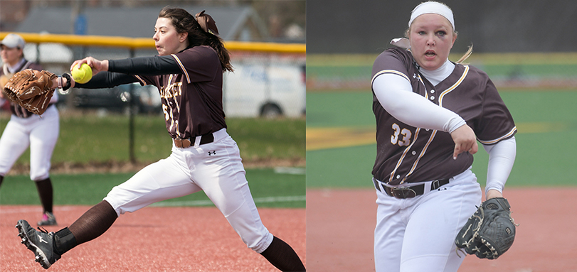 Abby Cosart and Sam Mott pitched the Yellow Jackets to first OAC sweep of season.  (Photos Courtesy of Jesse Kucewicz)