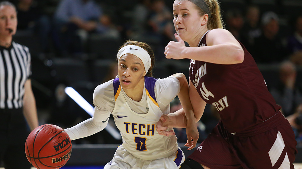 Balanced effort, third-quarter surge leads Tech women to win over Eastern Kentucky