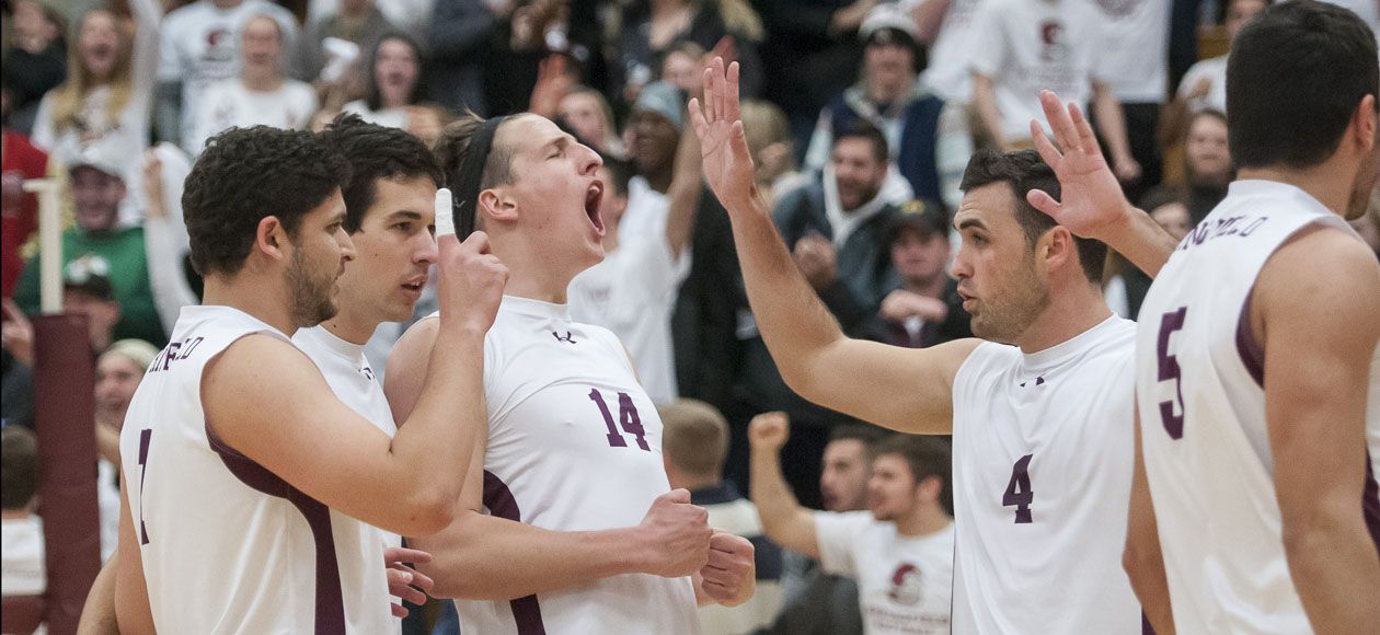 No. 1 Men's Volleyball Eases Past SUNY Poly and Arcadia
